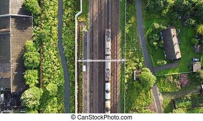sur, ferroviaire, pistes, voler