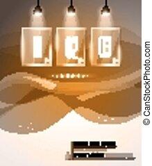 sur, fond, élevé, projecteurs, technologie, infographic, disposition