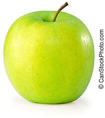 sur, fond blanc, pomme
