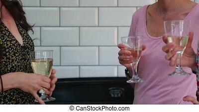 sur, haut, verre, prise, avoir, vin