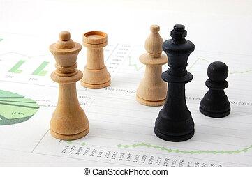 sur, homme, diagramme, business, échecs