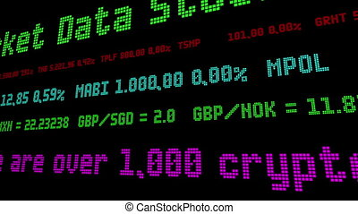 sur, là, marché, cryptocurrencies, 1000