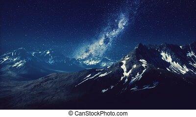 sur, laiteux, sommets montagne, manière