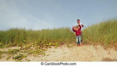 sur, marche, plage