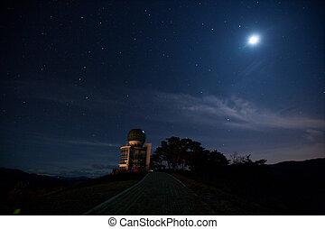 sur, montañas, observatorio, yangbangsan, corea, hermoso