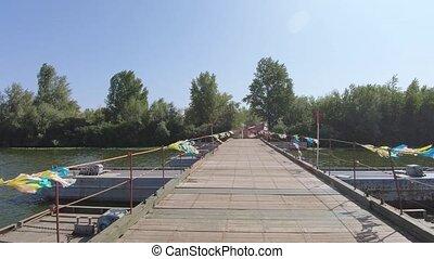 sur, pantone, rivière, pont