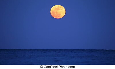sur, pleine lune, espagne, océan