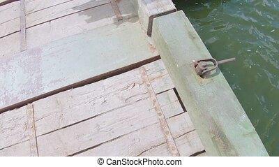 sur, pont, rivière, pantone