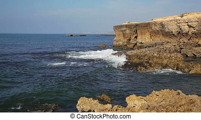 sur, portugal, océan, coupure, atlantique, côtier, vagues, rochers