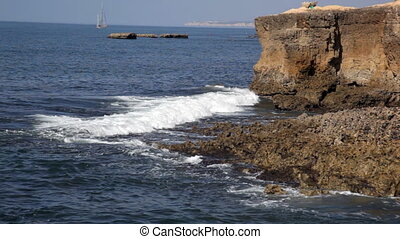 sur, portugal, océan, coupure, atlantique, vagues, rochers, côte