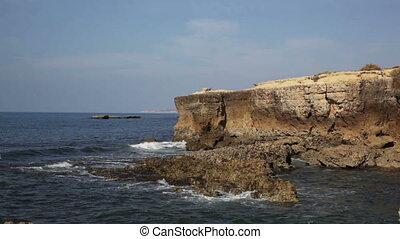 sur, portugal, océan, rochers, comprendre, vagues, côte atlantique