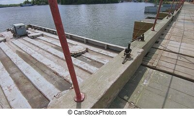 sur, rivière, pantone, pont