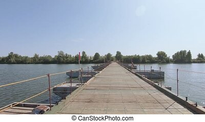 sur, rivière, pont, pantone