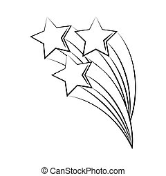sur, tatouage, ligne, tir, minimaliste, art, étoiles, blanc, icône, boho, fond