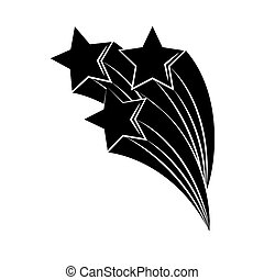 sur, tatouage, silhouette, tir, minimaliste, art, étoiles, blanc, icône, boho, fond