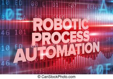 sur, texte, interface, robotique, automation, écran, processus