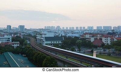 sur, transport, singapour, soleil, défaillance, levée,...