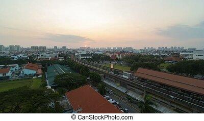 sur, transport, singapour, soleil, défaillance, matin,...
