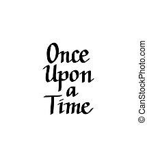 sur, vecteur, conception, italique, temps, calligraphie, autrefois