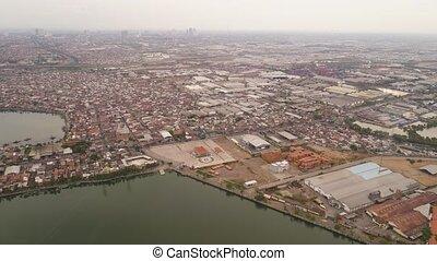 Surabaya capital city east java, indonesia - Aerial...