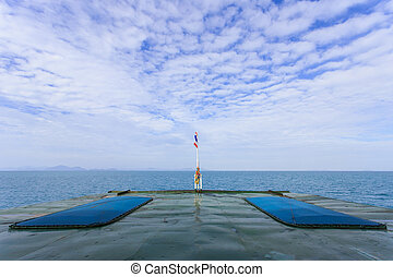 SURATTHANI - JULY 18 : Ferry boat. The main transport from Donsa