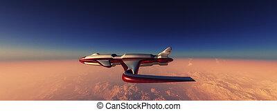 surcar, prototipo, avión, cielo