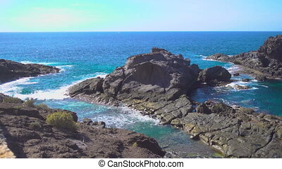 Surf and rocky coast of Tenerife, The Canaries