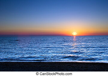 Surf and Sail - Sailboat in the Sunset