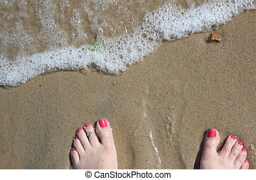 surf and toes