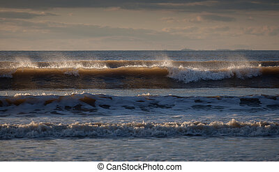 Surf at Rhossili Bay