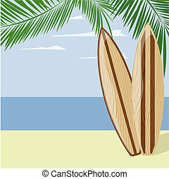 surf beach background