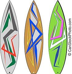 Surf Board Graphics, Stripe : Vinyl Ready Vector Art