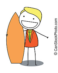 surf businessman