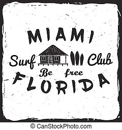 Surf club concept. - Surf club retro badge. Surfing concept...