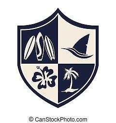surf design  - surf graphic design , vector illustration