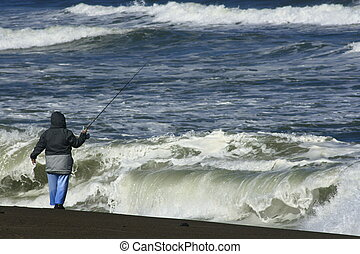 Surf Fishing in Oregon