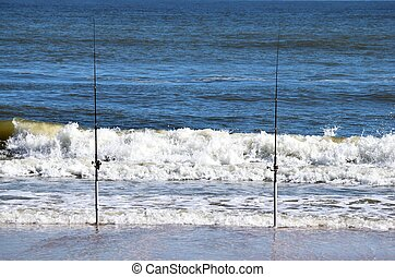 Surf fishing poles