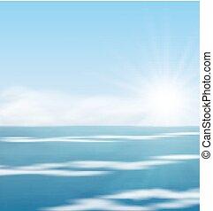 surf, mare, paesaggio, alba, oceano