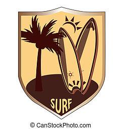 surf, medalla