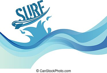 surf on wave background water waves vector design