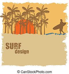 Surf poster design