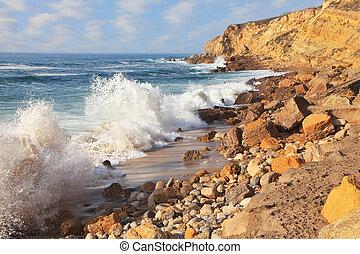 surf, sintra, potente, portogallo, oceano