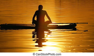 Surf yoga man exercise