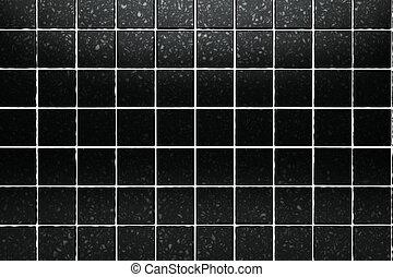 surface black tiles