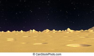 surface, côté, fond, vue, lune, en mouvement