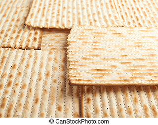 Surface covered with matza flatbread - Surface covered with...