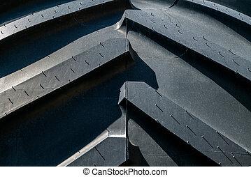 surface, de, nouvelle voiture, pneu