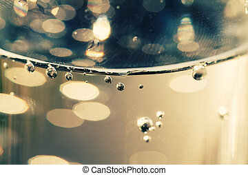 Surface of a water with bubbles wallpaper