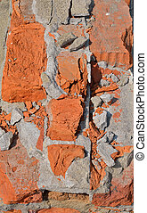 Surface of brickwork 4