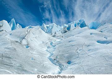 Surface of Perito Moreno glacier. - Surface of Perito Moreno...